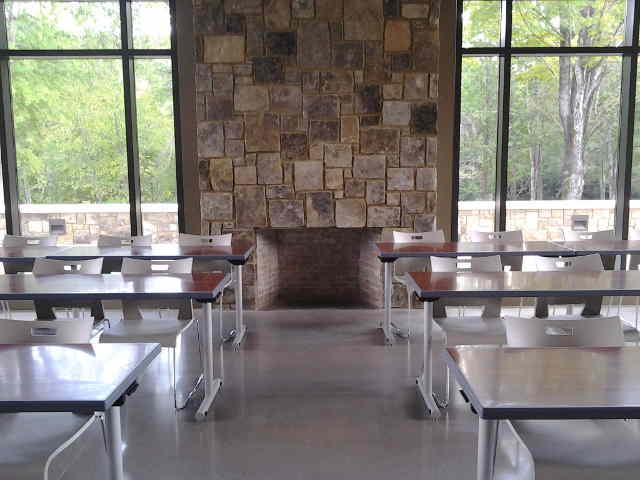 UT Arboretum Auditorium Fireplace