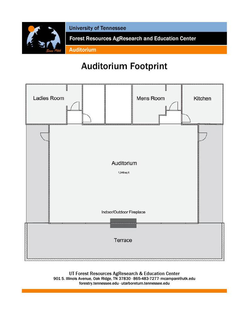 UT Arboretum Auditorium Footprint