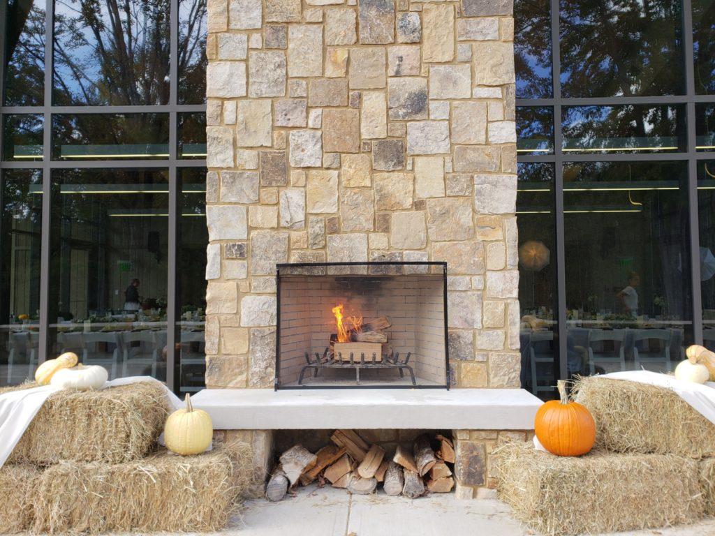 UT Arboretum Auditorium Outdoor Fireplace