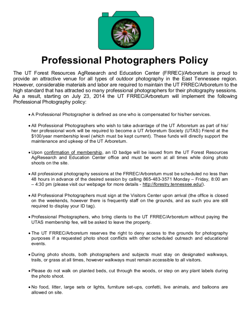 Photography Policy