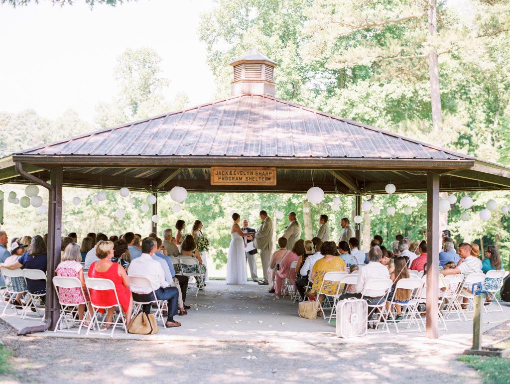 UT Arboretum Sharp Program Shelter Wedding
