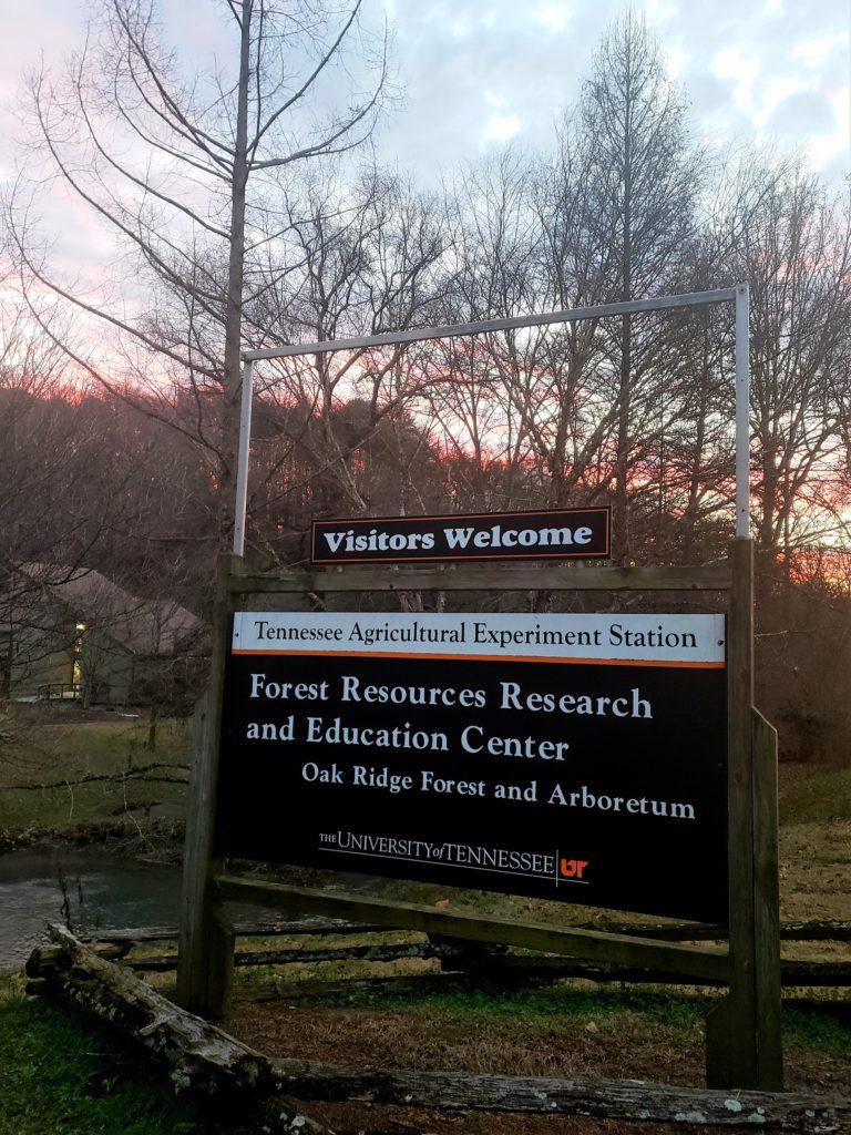 Entrance Sign UT Arboretum and FRREC