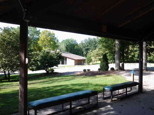 UT Arboretum Auditorium from Program Shelter