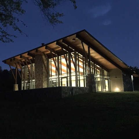 New Program Center at night