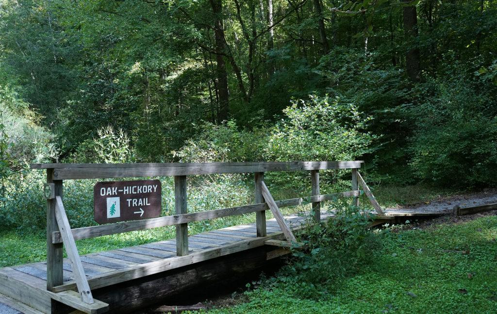 Oak-Hickory Trail entrance and bridge