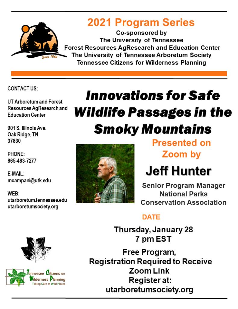 Flyer for January 28 program