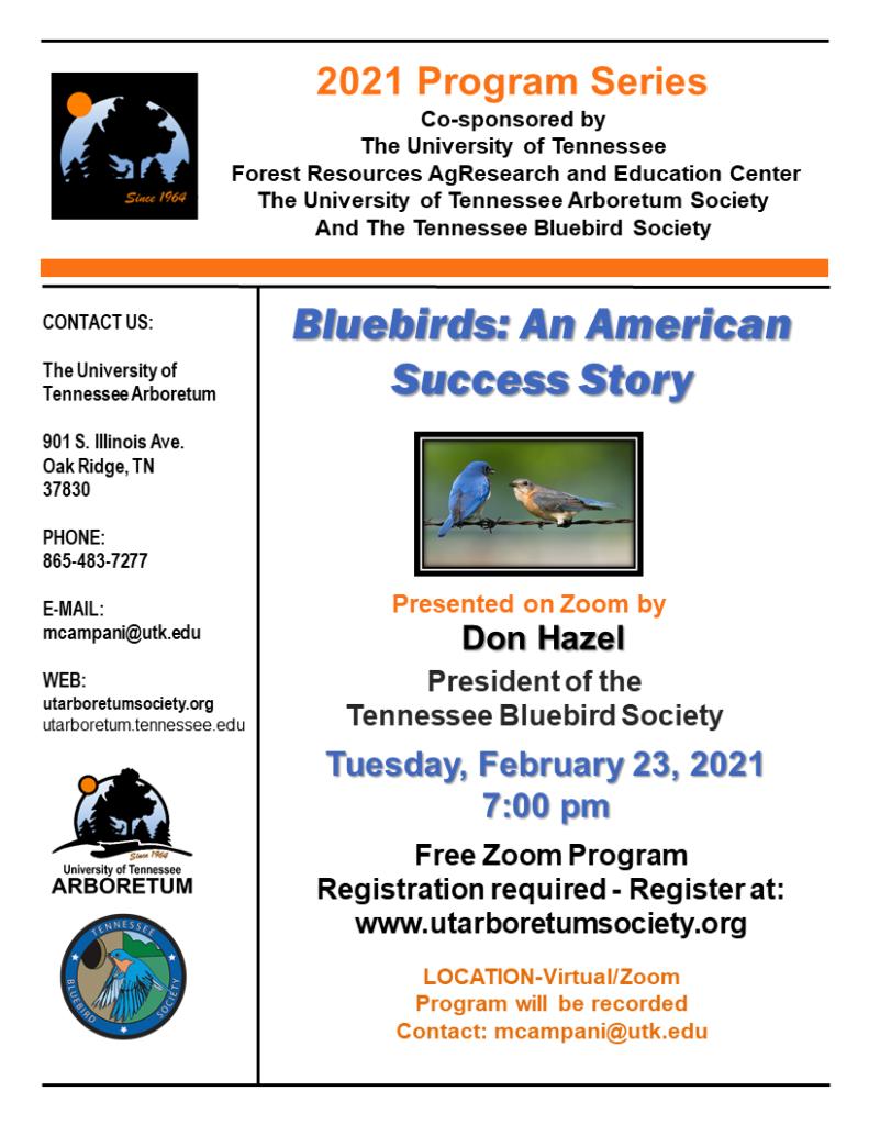 Flyer for Bluebird Program